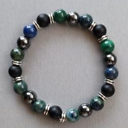 Bracelet Chrysocolle, Onyx...