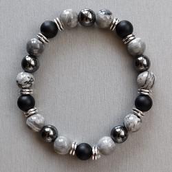 Bracelet Jaspe, Onyx et...
