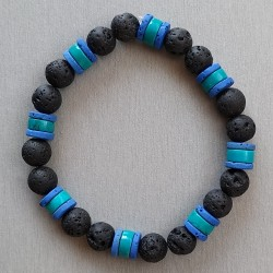 Bracelet Turquoise et Lave