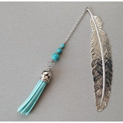 Marque-page Howlite turquoise