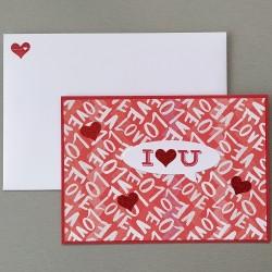 """Carte """"I love you"""""""